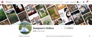 Join Sampson's Hollow on Pinterest