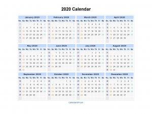 2020 Calendar - Blank Printable Calendar Template In Pdf Word Excel 2020 Calendar With Lunar Dates